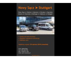 Przejazd Nowy Sącz -> Stuttgart