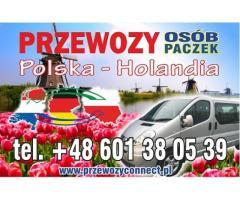 BUSY POLSKA - HOLANDIA BEZ PRZESIADEK TANIO+48 601 380 539