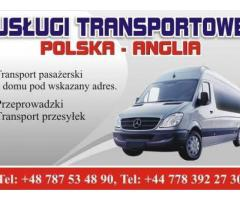 Przewóz osób,transport paczek,przeprowadzki Polska-Anglia-Polska